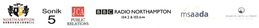 Supported by Northampton Borough Council, Sonic 5, JCA Public Relations, BBC Radio Northampton 104.2 & 103.6 FM, Msaada, Martin Ariel & Jared, The National Lottery, Northamptonshire County Council, West Northamptonshire Development Corporation